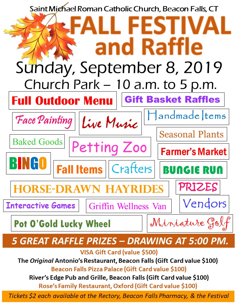 2019 Fall Festival and Raffle